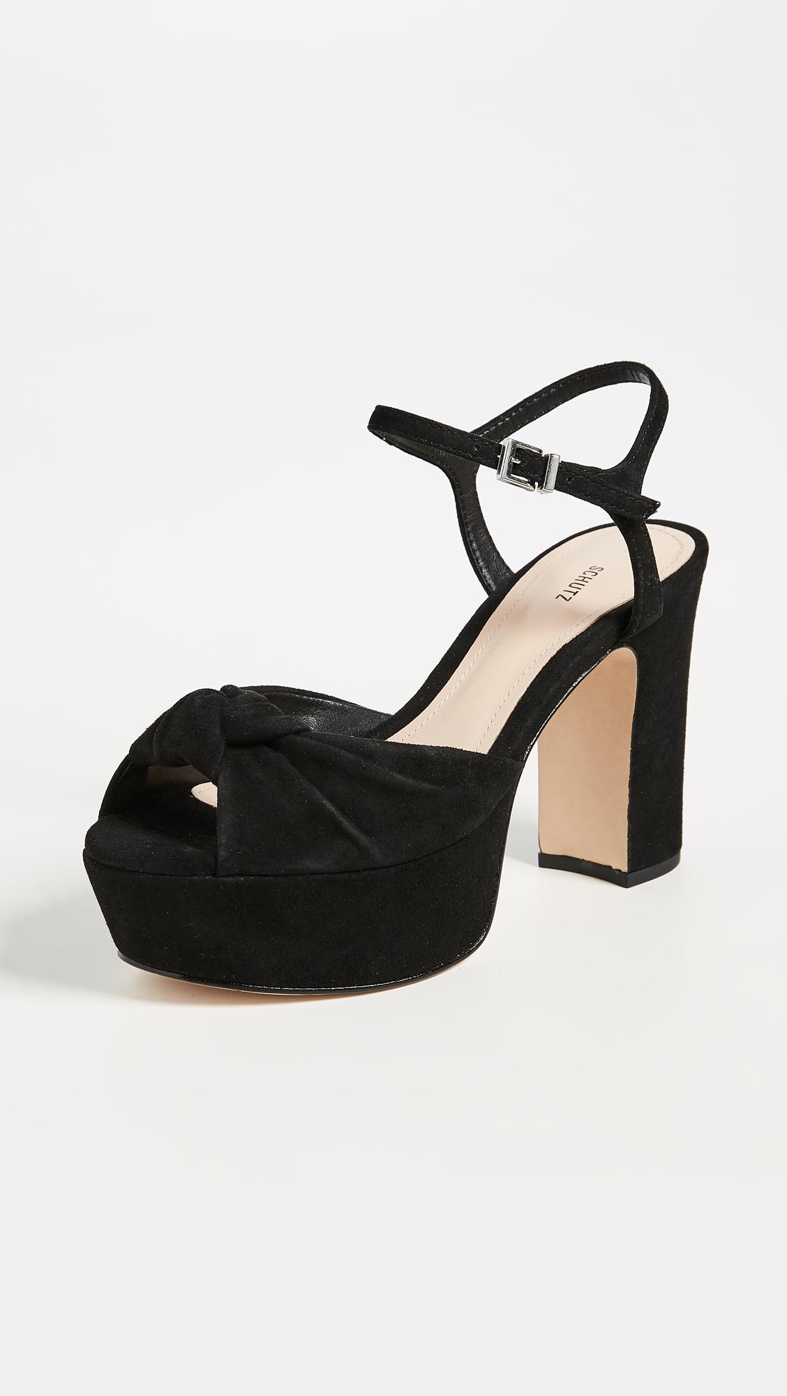 sale manchester great sale cheap best store to get Schutz Suede Platform Sandals qKu38oizYY