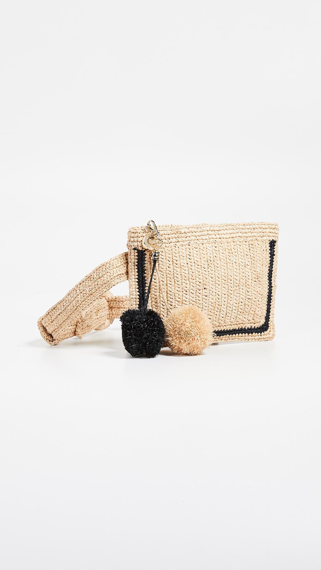 a8e8c6e1b02d Lyst - Zimmermann Raffia Stripe Belt Bag in Natural