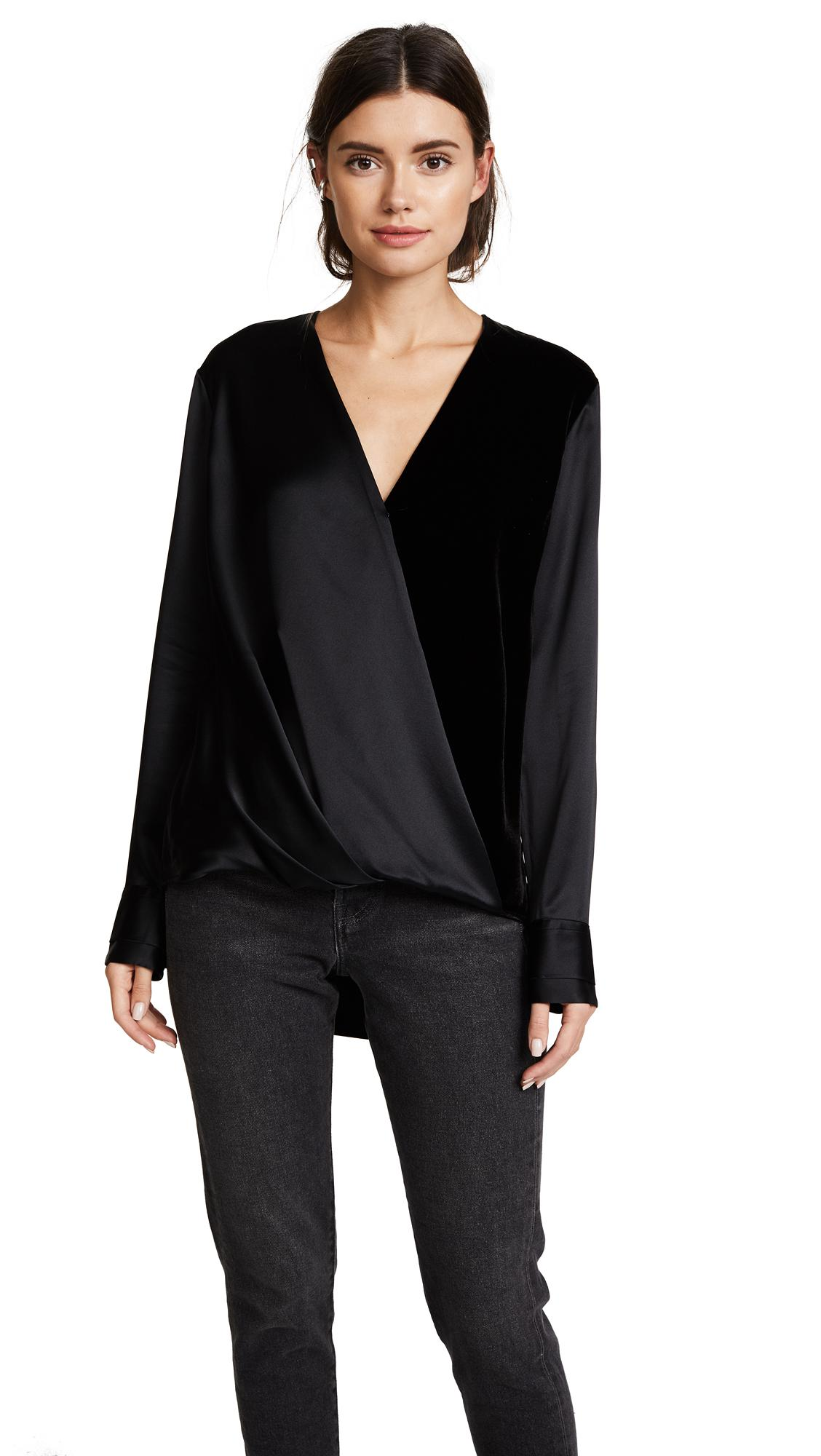 2e6f742421395f Rag & Bone Victor Blouse in Black - Lyst