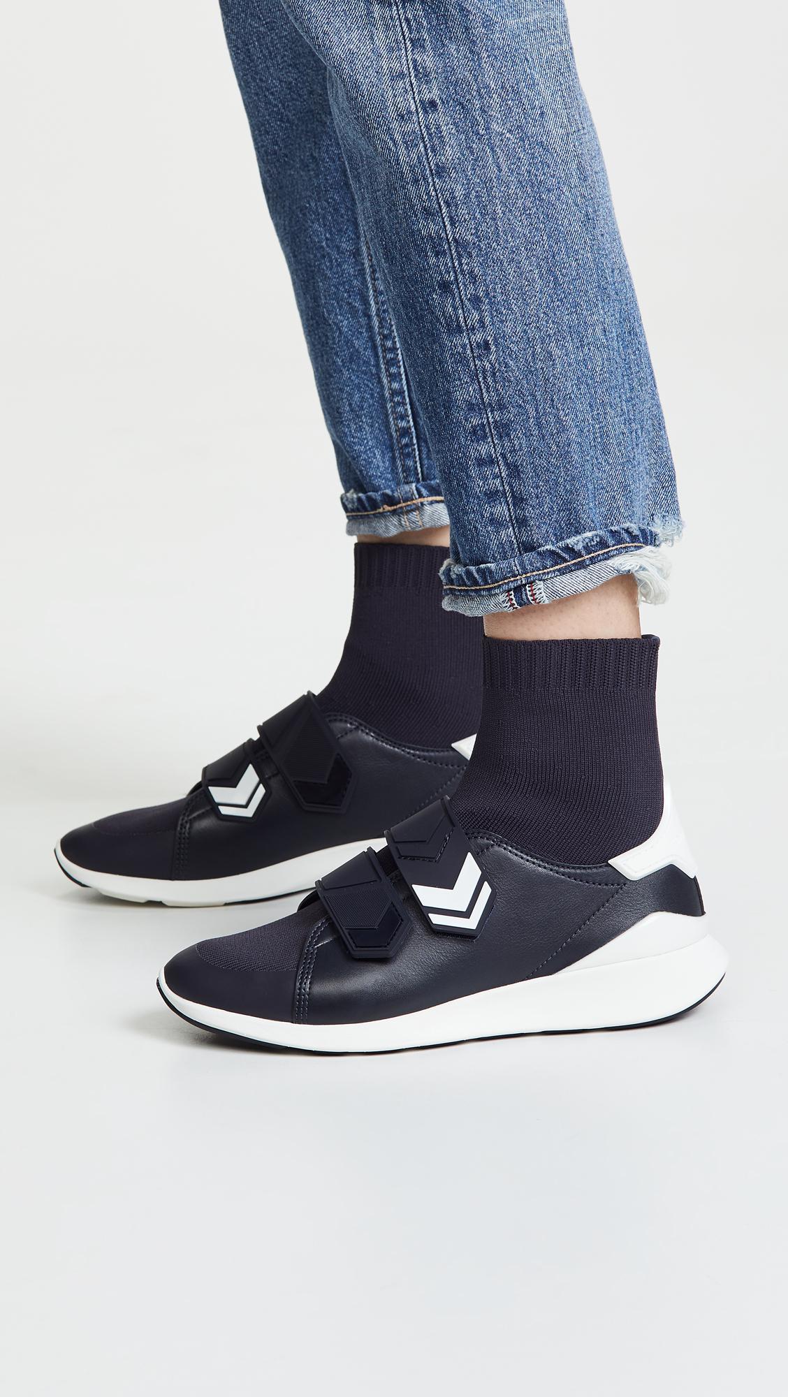 5f1eabdd14b7 Tory Sport - Blue Chevron Sock Sneaker - Lyst. View fullscreen