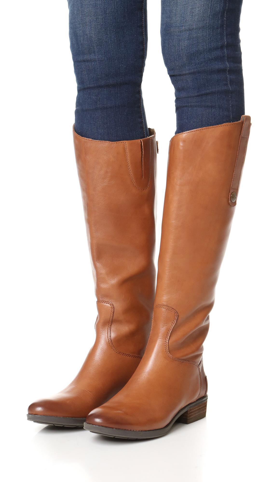 03f42f95e68b Sam Edelman - Brown Penny Riding Boots - Lyst. View fullscreen