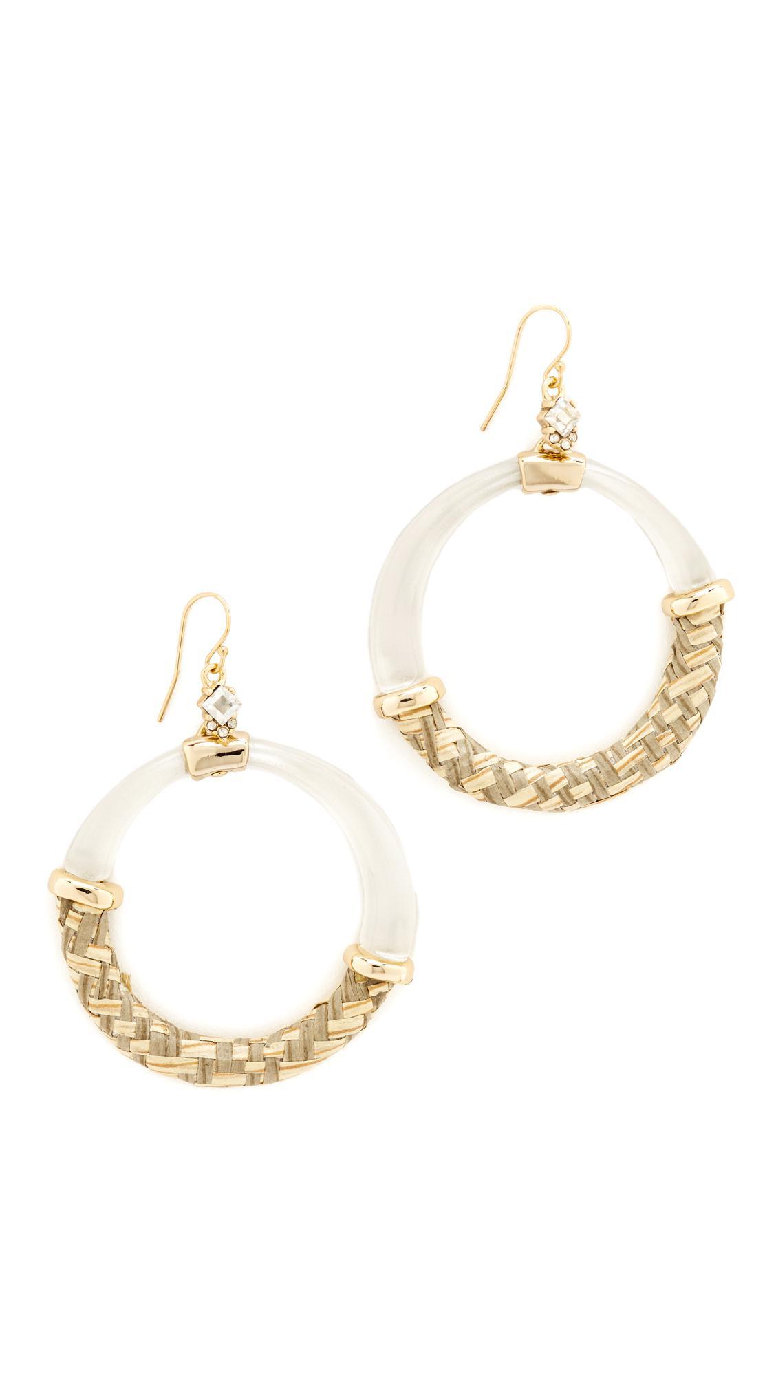Alexis Bittar Raffia Hoop Wire Earring Silver zT2453