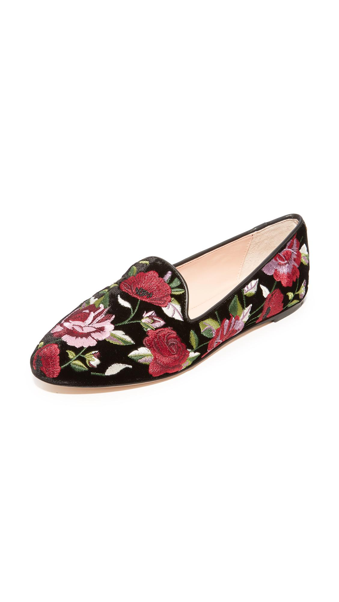3f92e61b7840 Kate Spade Swinton Floral Slip On Flats in Black - Lyst