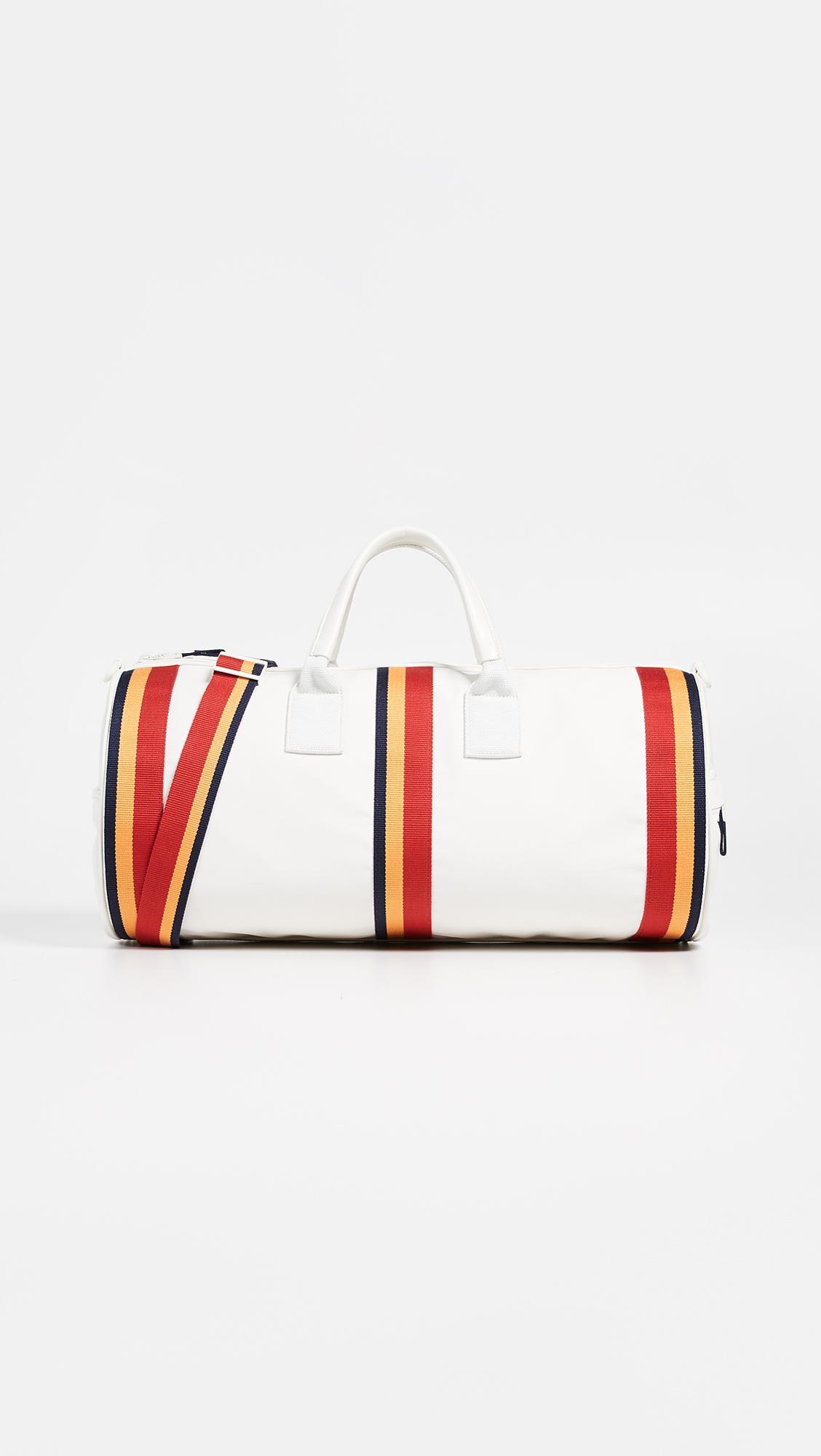 3dcf7503147 Tory Sport Retro Striped Weekender Duffel Bag in White - Lyst
