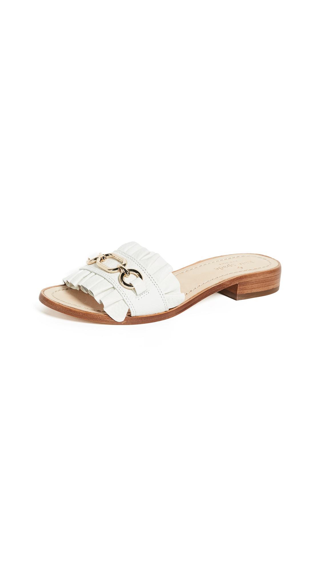 a8831b24a19d6e Lyst - Kate Spade Beau Slides in White