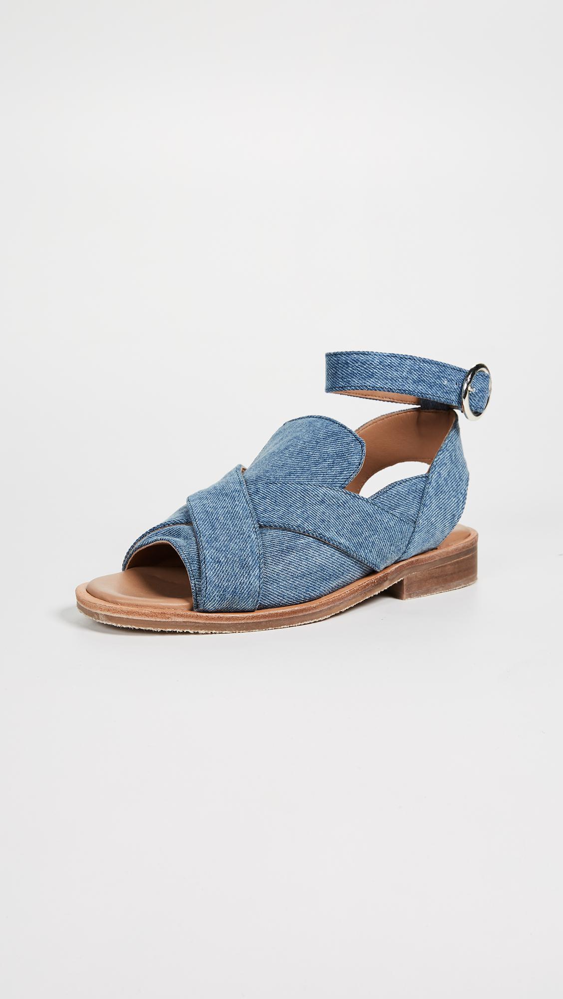 Free People Catherine Leather Loafer Sandal 1NJXOyuqk