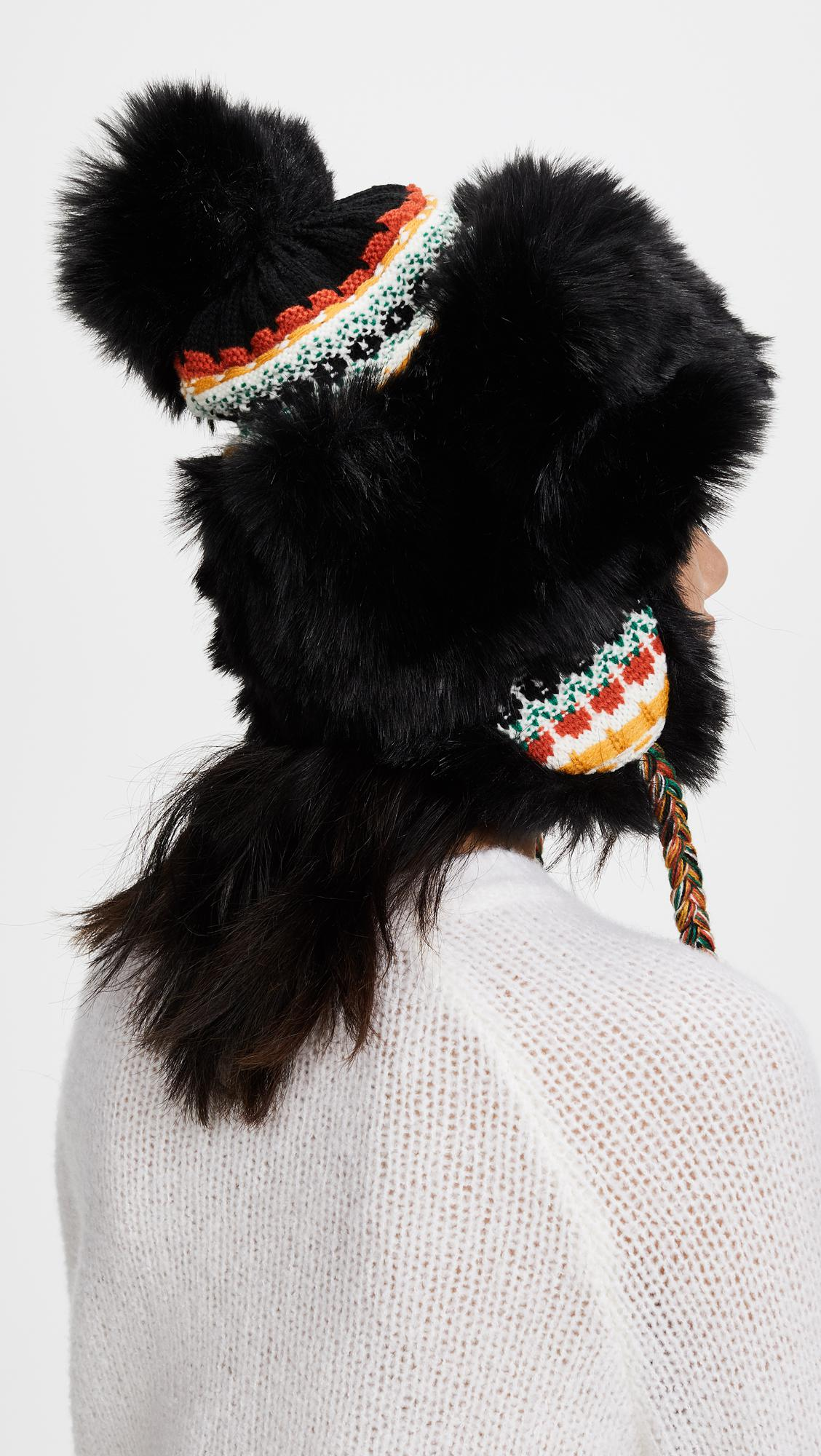 Lyst - Free People Melt My Heart Trapper Hat in Black 8a12de1e82b6