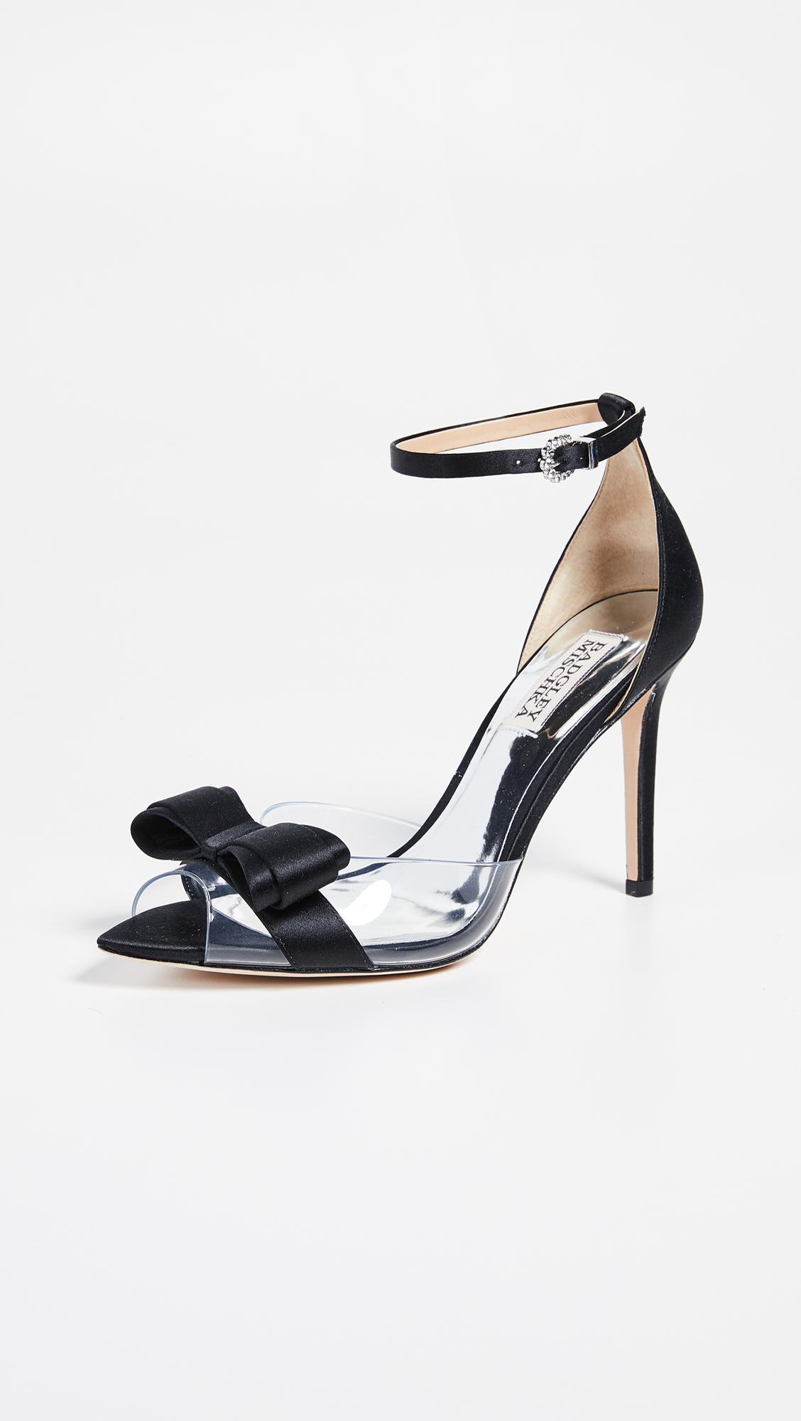 d99f128f12 Badgley Mischka Lindsay Vinyl Ankle Strap Sandals in Black - Lyst