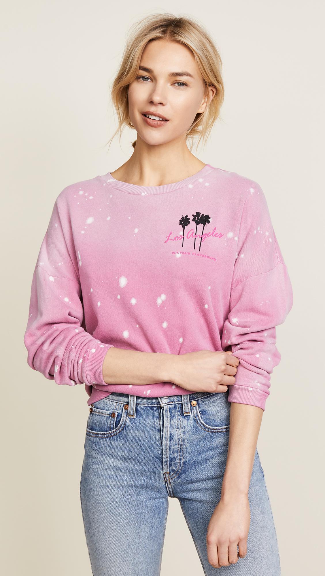 LNA. Women's Pink Winters Playground Sweatshirt