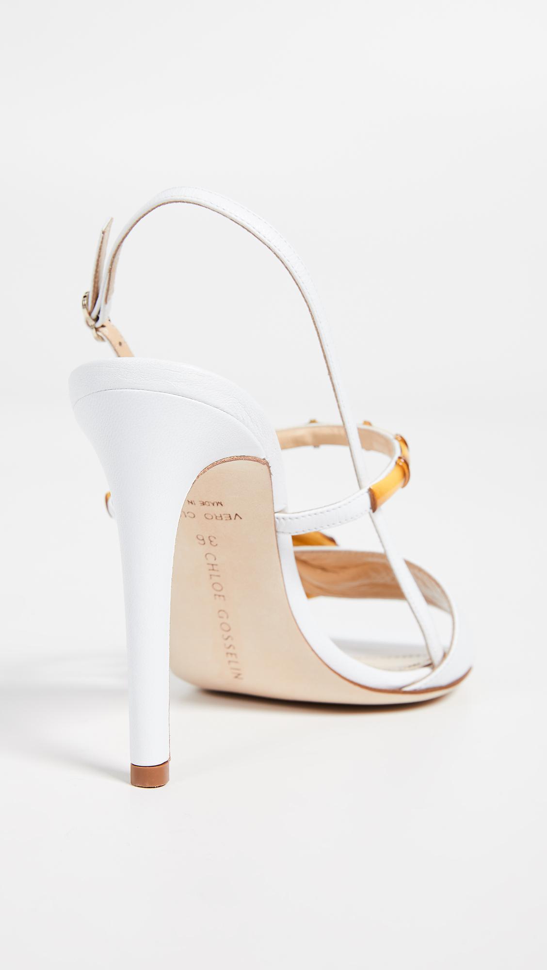 fde118bdf0d504 Chloe Gosselin - White Celeste Sandals - Lyst. View fullscreen