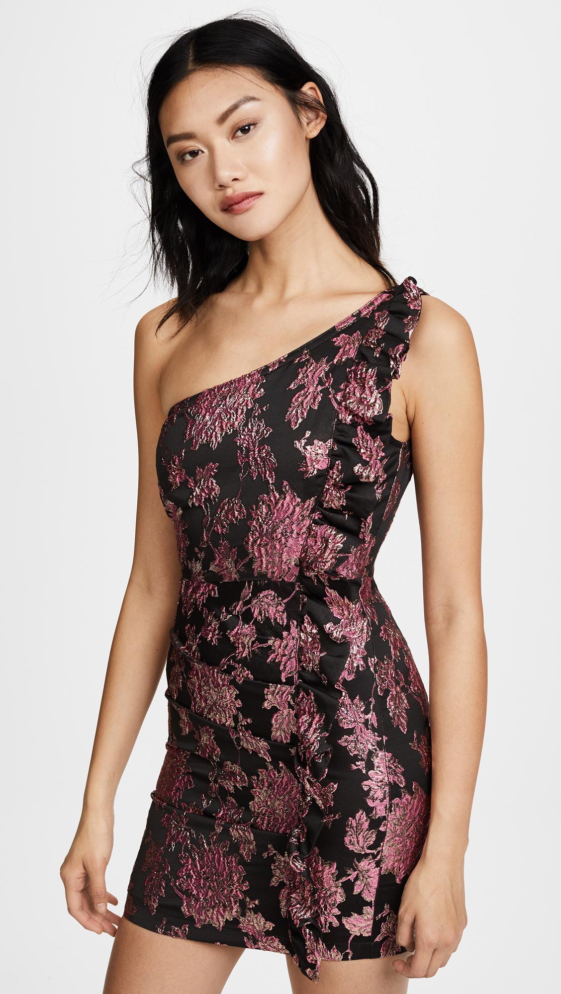 2b1b6fead182 For Love & Lemons Luella Jacquard Mini Dress in Metallic - Lyst