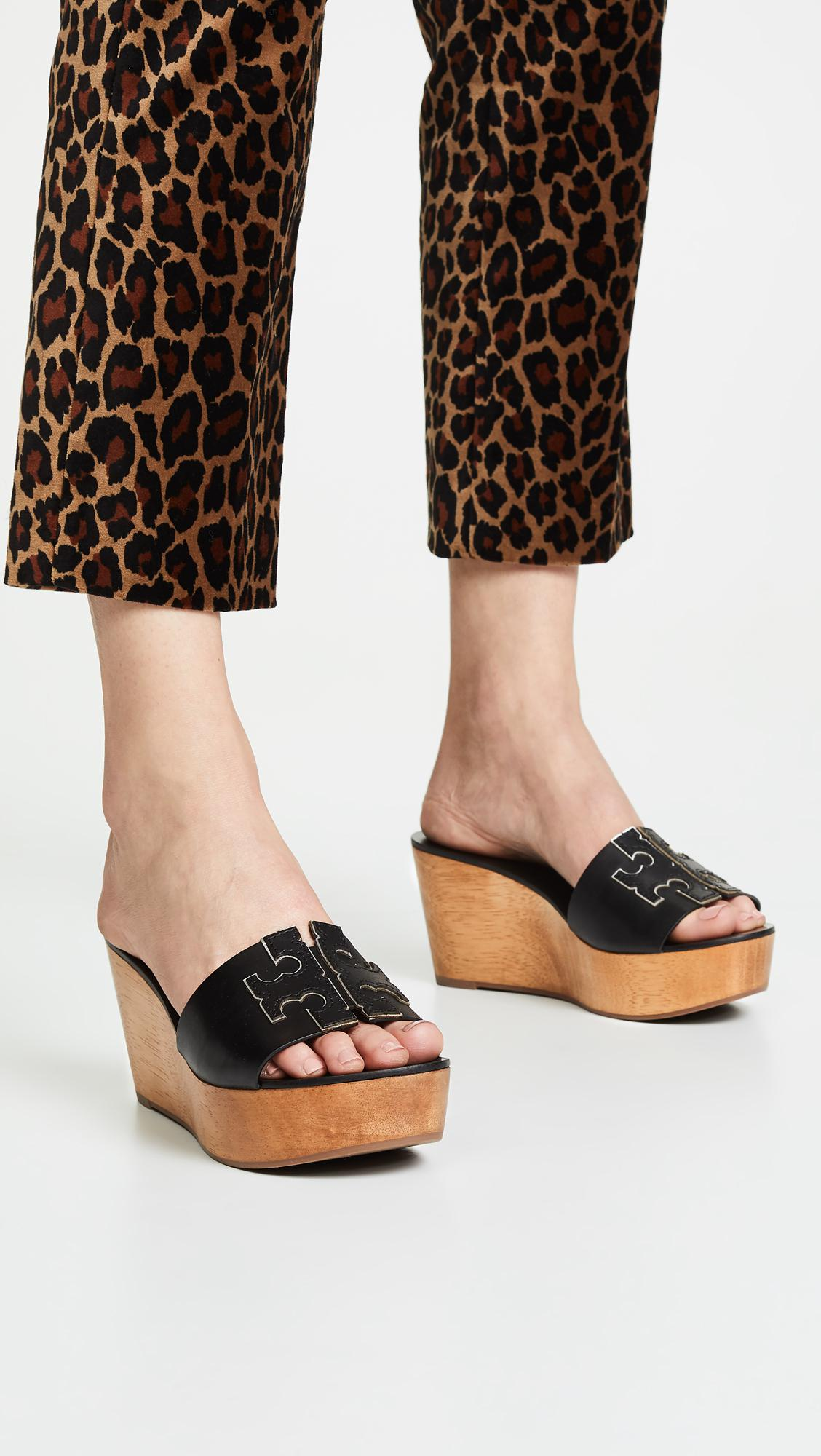 51421a213 Tory Burch Ines 80mm Wedge Slides in Black - Save 1% - Lyst