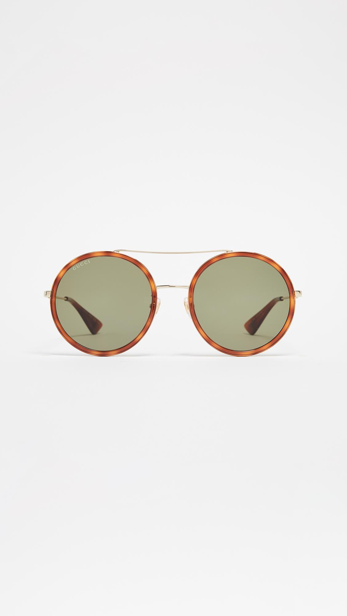 7542c1ce59c Gucci - Multicolor Urban Web Block Round Sunglasses - Lyst. View fullscreen