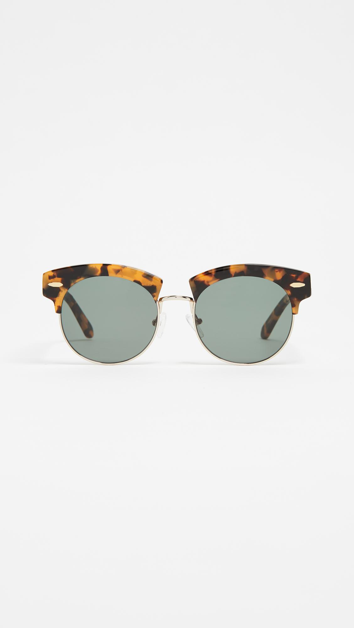 The Constable Round Acetate Sunglasses Karen Walker