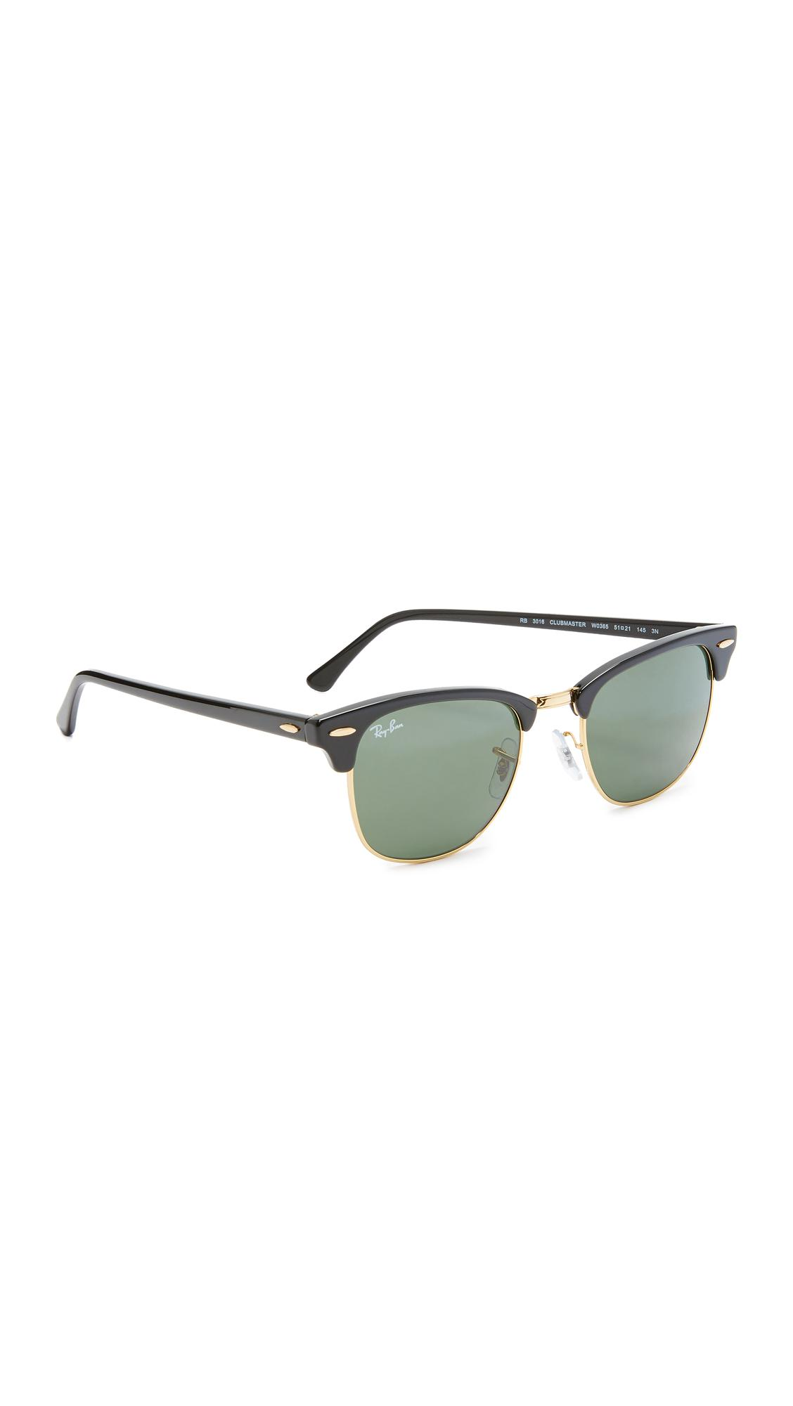 8659c35c2e6efc Lyst - Ray-Ban Classic Clubmaster Sunglasses in Green - Save ...