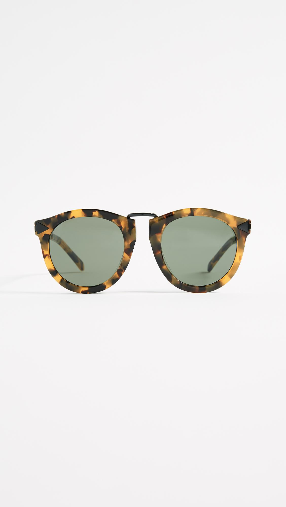 611a34a1829d Lyst - Karen Walker Special Fit Harvest Sunglasses in Gray