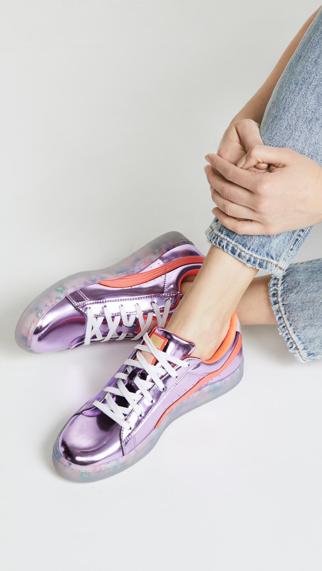 X Pumas Sophia Panier Webster Baskets Princesse Bonbons - Rose Et Violet nlFfTa0o7