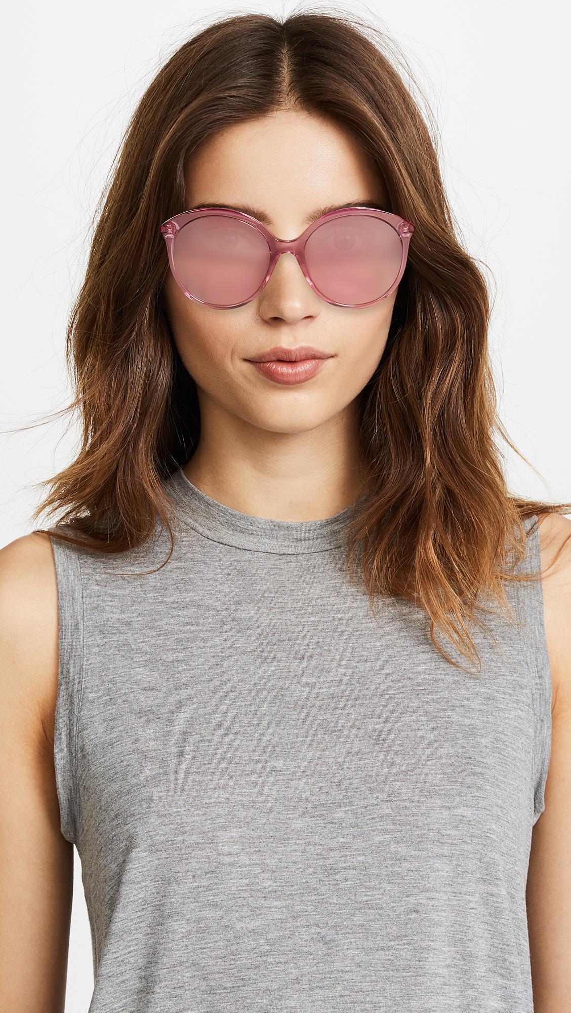 842afb481c ... Round Monocolor Sunglasses - Lyst. View fullscreen