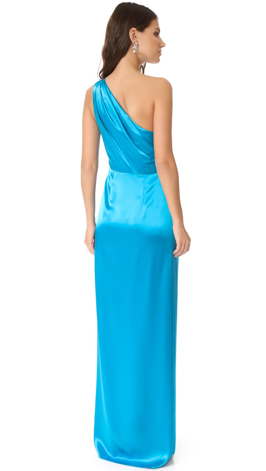 Lyst - Zac Posen Stacy Gown in Blue