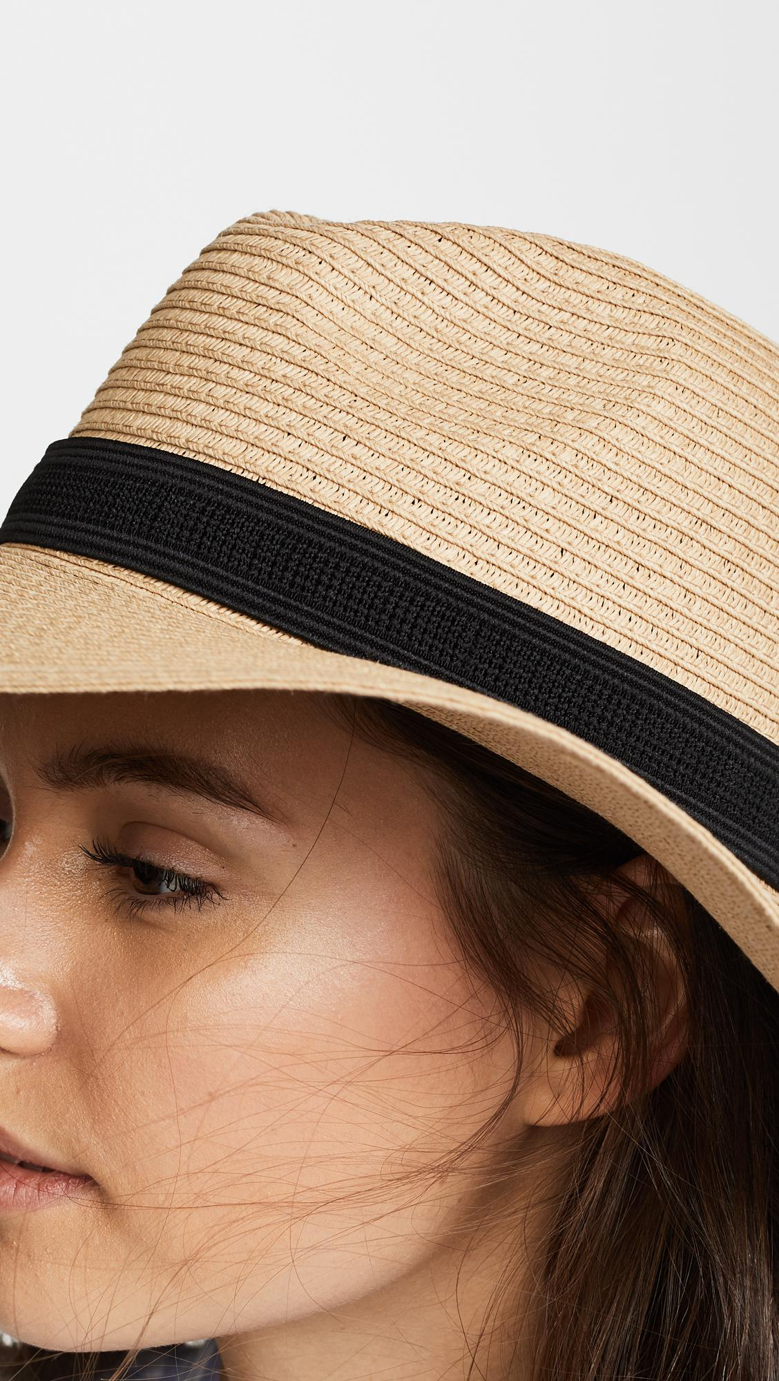 13424faf8a6 Madewell - Multicolor Packable Mesa Straw Hat - Lyst. View fullscreen