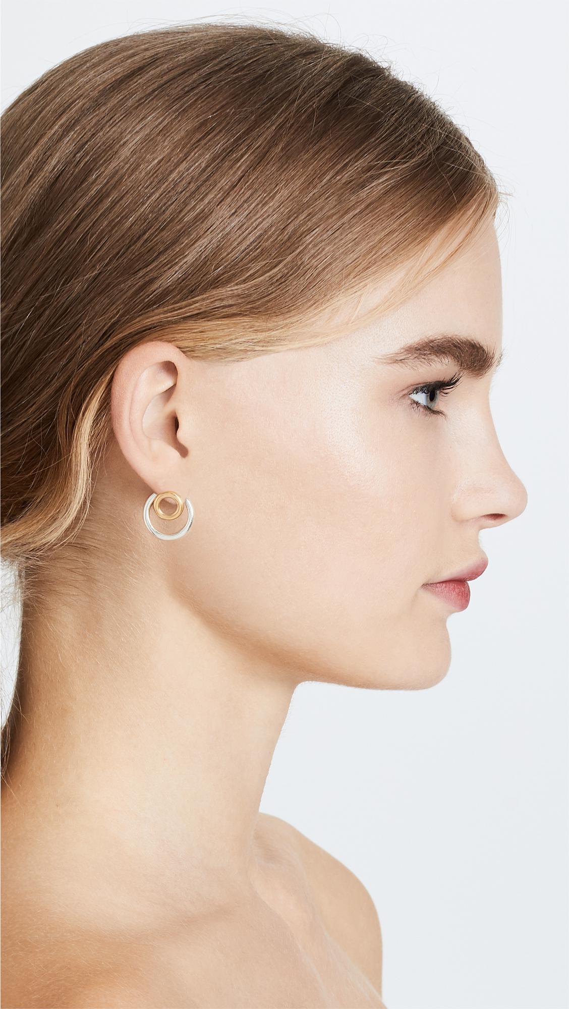 31855041c9c497 Madewell Front Back Circle Hoop Earrings in Metallic - Lyst