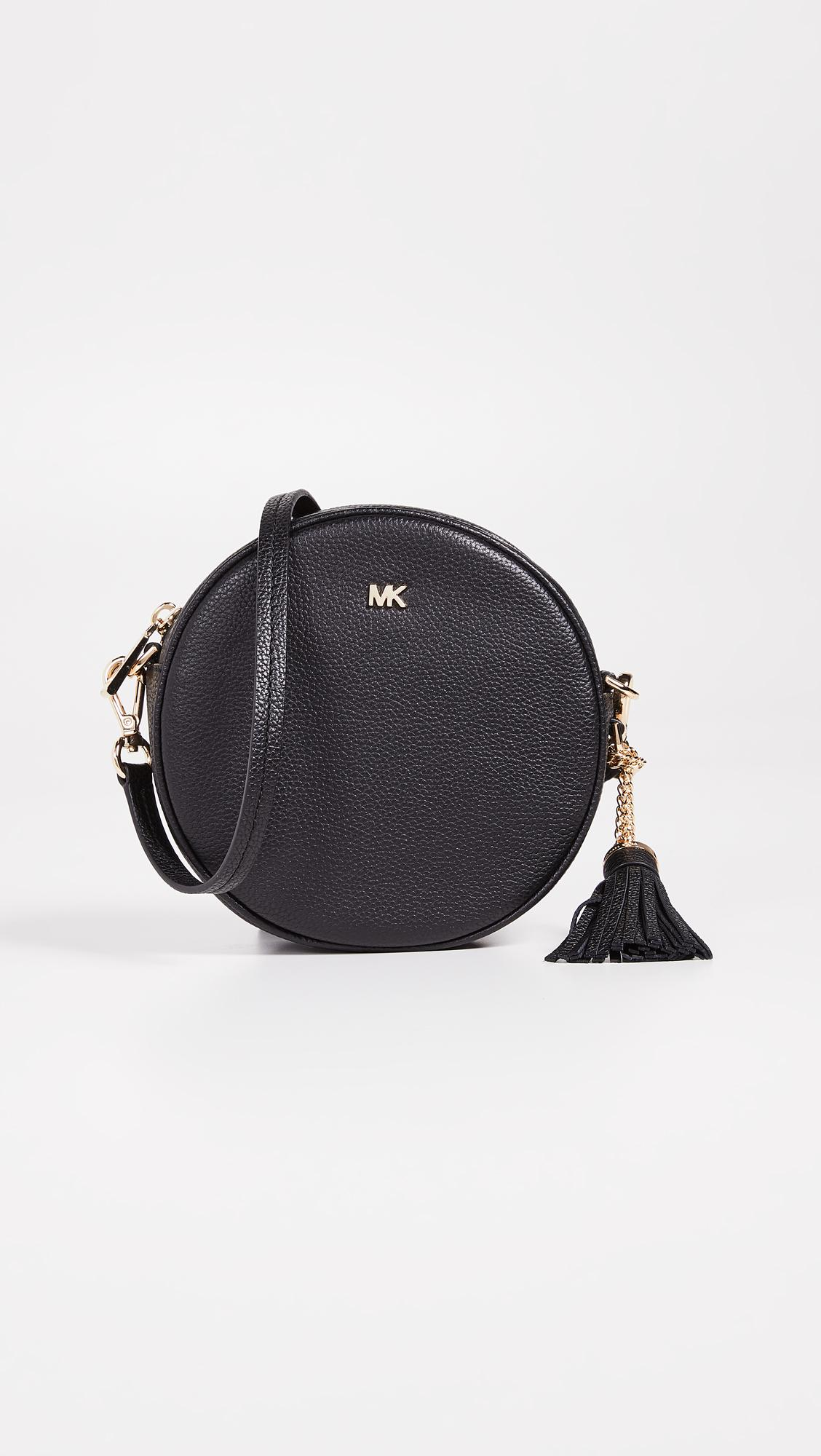 553e997a5cfc5 Michael Michael Kors Medium Canteen Crossbody Bag in Black - Lyst