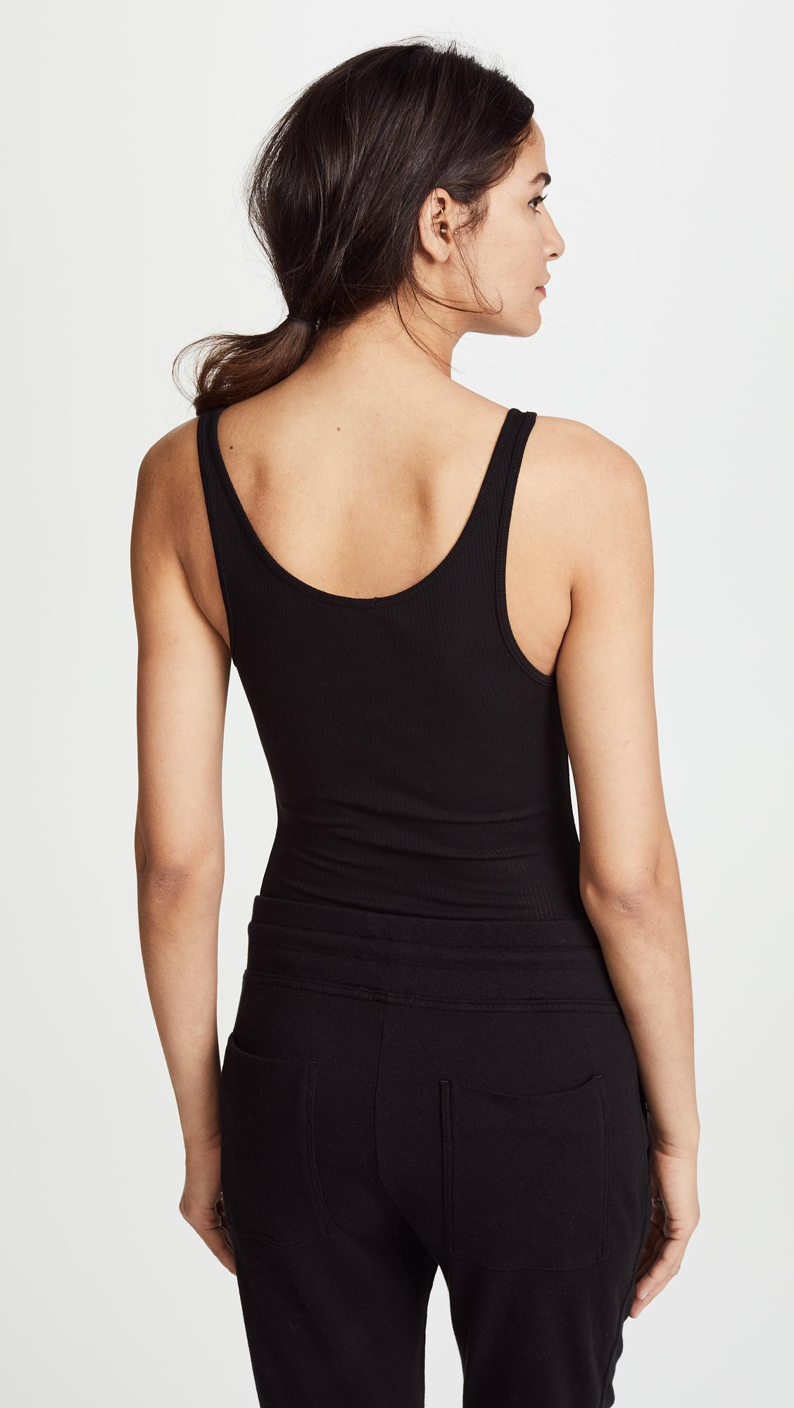 1549e476b526d4 Lyst - James Perse Daily Tank in Black - Save 20%