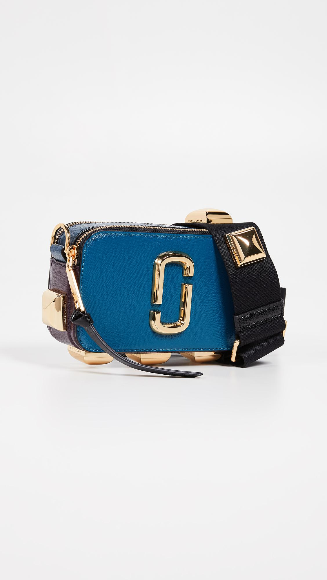 75199c6d3b1b Marc Jacobs - Blue Snapshot Studs Crossbody Bag - Lyst. View fullscreen