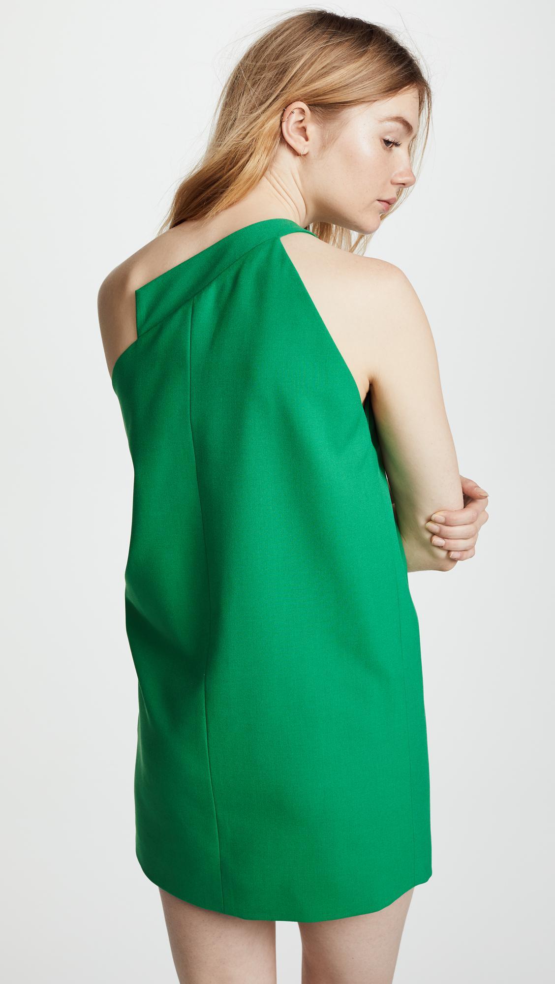4b0b89f6cefa Michelle Mason One Shoulder Dress in Green - Lyst