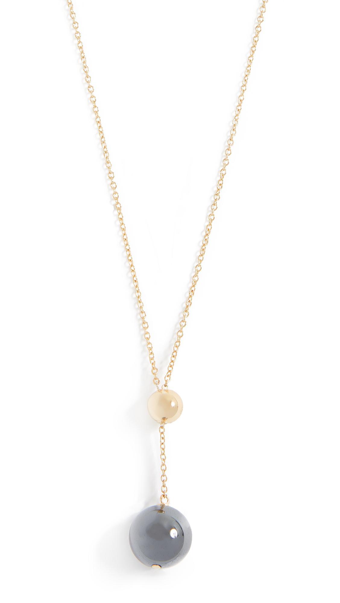 Splendid Gorjana Newport Charm Adjustable Necklace Gold Gold wCZrUbx7OU