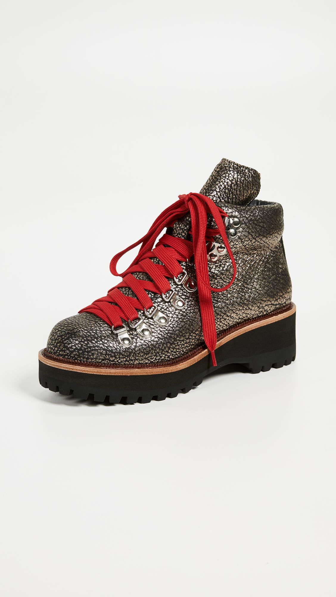 Jeffrey Campbell Explorer Wedge Hiking Booties In Red Lyst