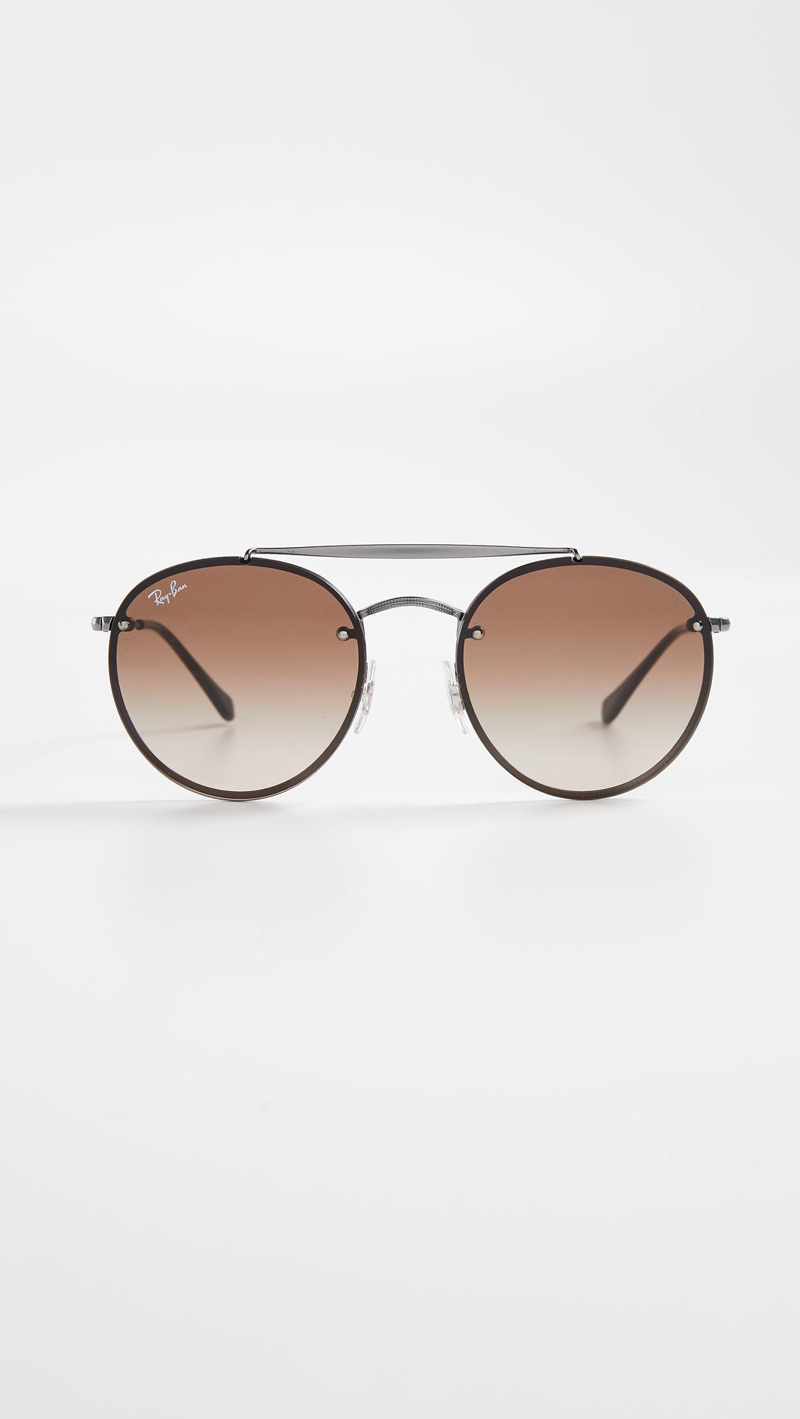 82081f33c6 Ray-Ban. Women s Rb3614n Blaze Rimless Round Aviator Sunglasses