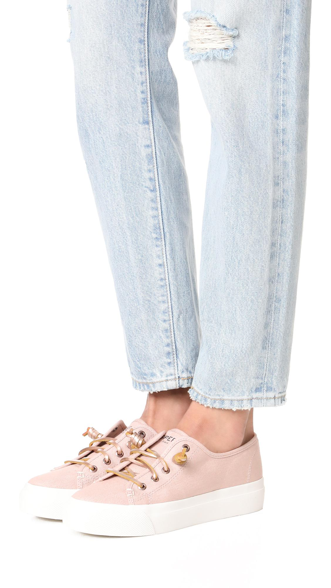 3183a6dc2c08 Lyst - Sperry Top-Sider Sky Sail Metallic Sneakers