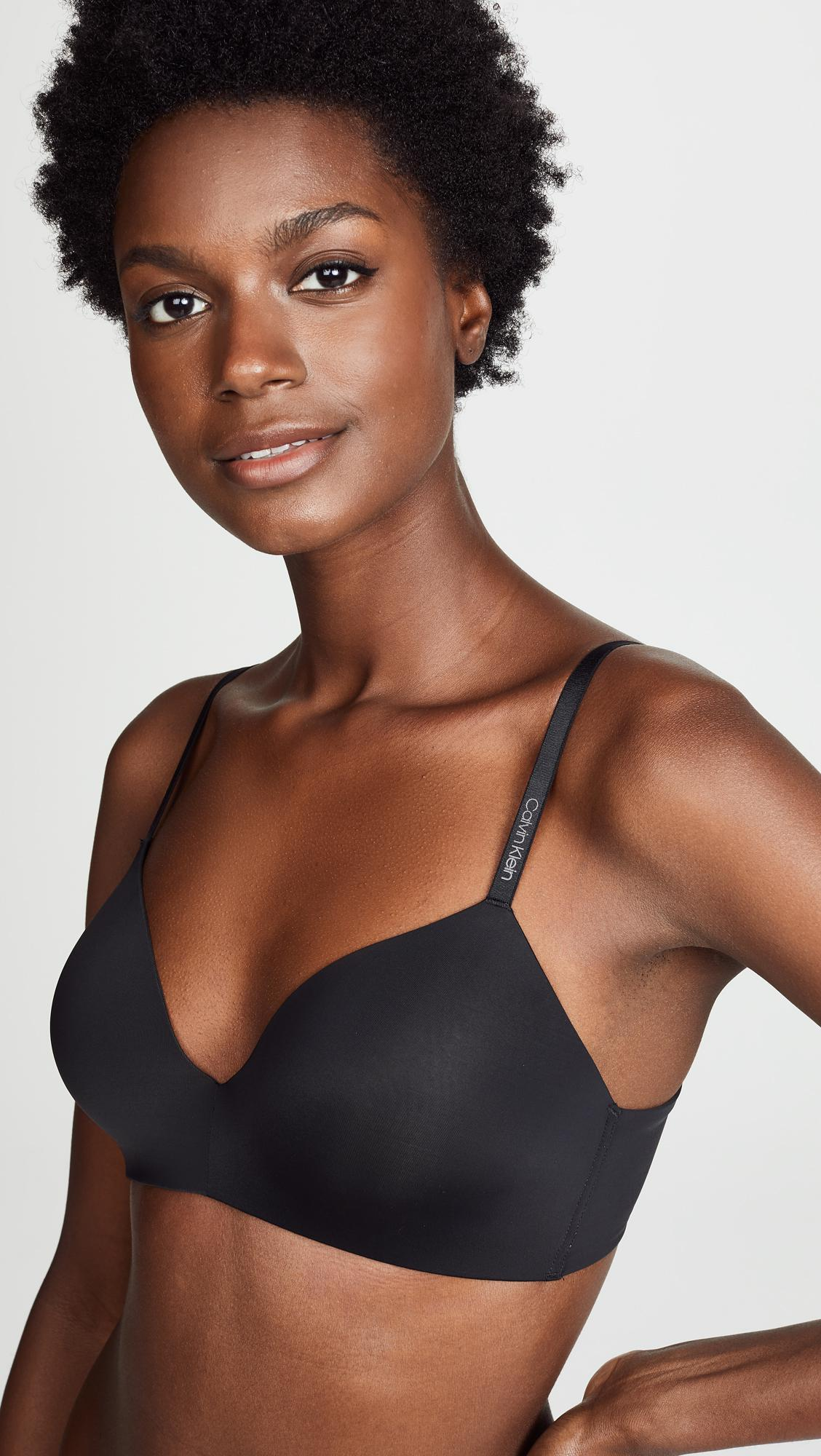 cea5dc4e5b Calvin Klein - Black Form Lightly Lined Demi Bra - Lyst. View fullscreen
