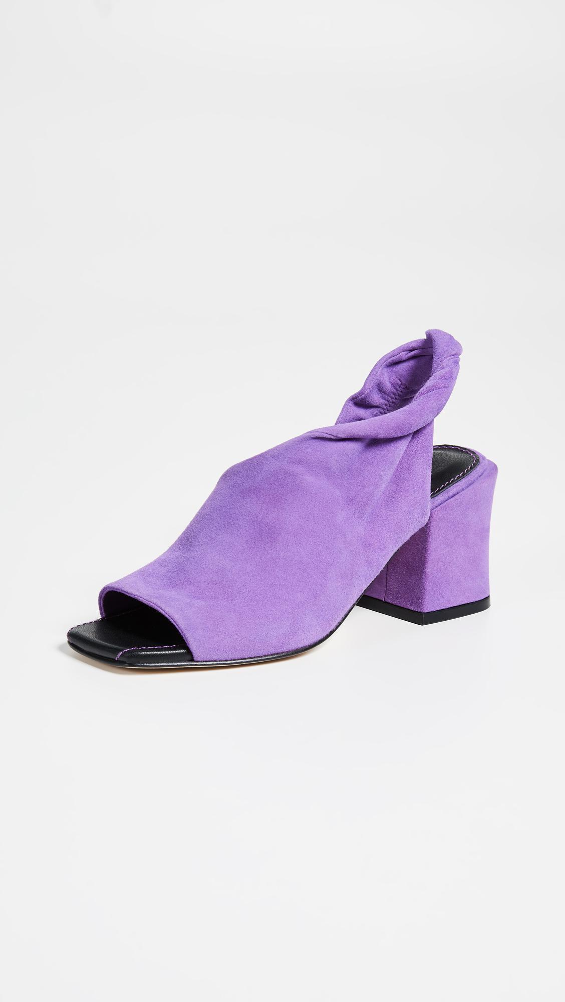 9d36634dfc09 Sigerson Morrison Lenny Block Heel Pumps in Purple - Save 60% - Lyst