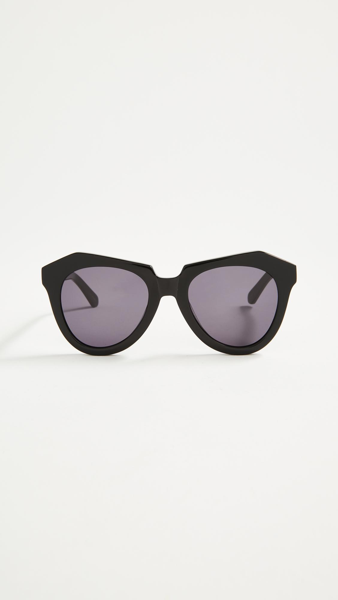 6d8d0fbc9282 Karen Walker Numer One Sunglasses in Black - Lyst