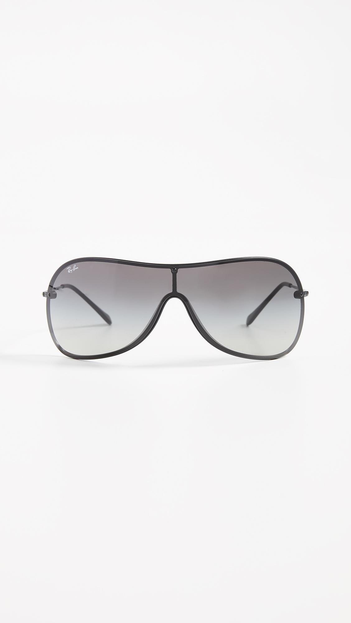 fe9dffd5ba9565 Ray-Ban Shield Sunglasses in Black - Lyst