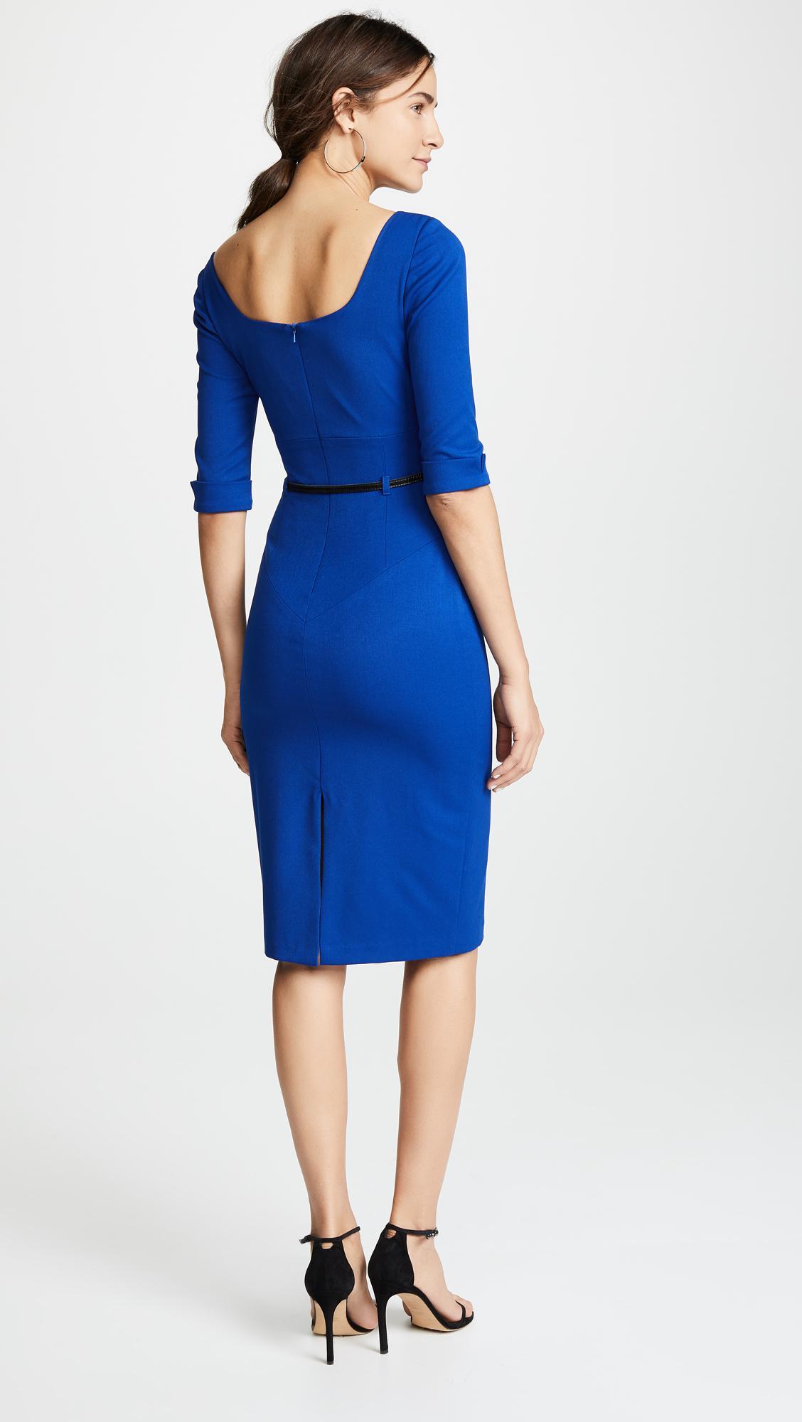 b8a2f5466d Black Halo - Blue 3 4 Sleeve Jackie O Dress - Lyst. View fullscreen