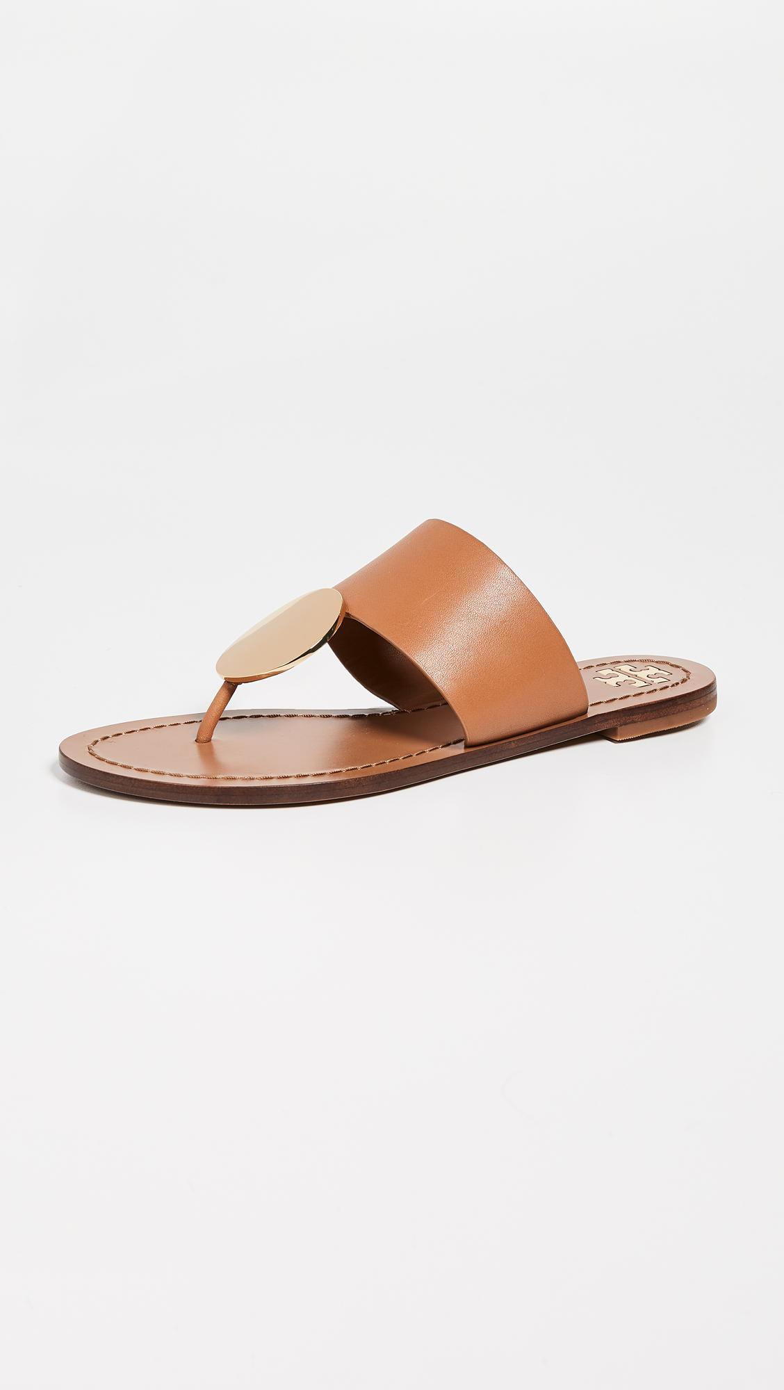 6f0c4b64483 Lyst - Tory Burch Patos Disk Sandals in Brown