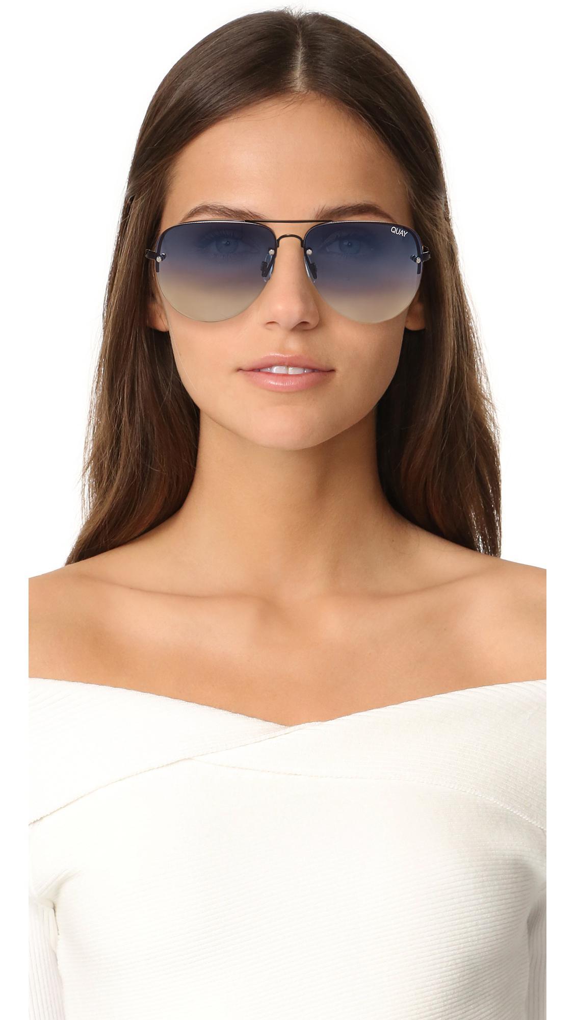e617eed697e Lyst - Quay Muse Fade Sunglasses in Blue
