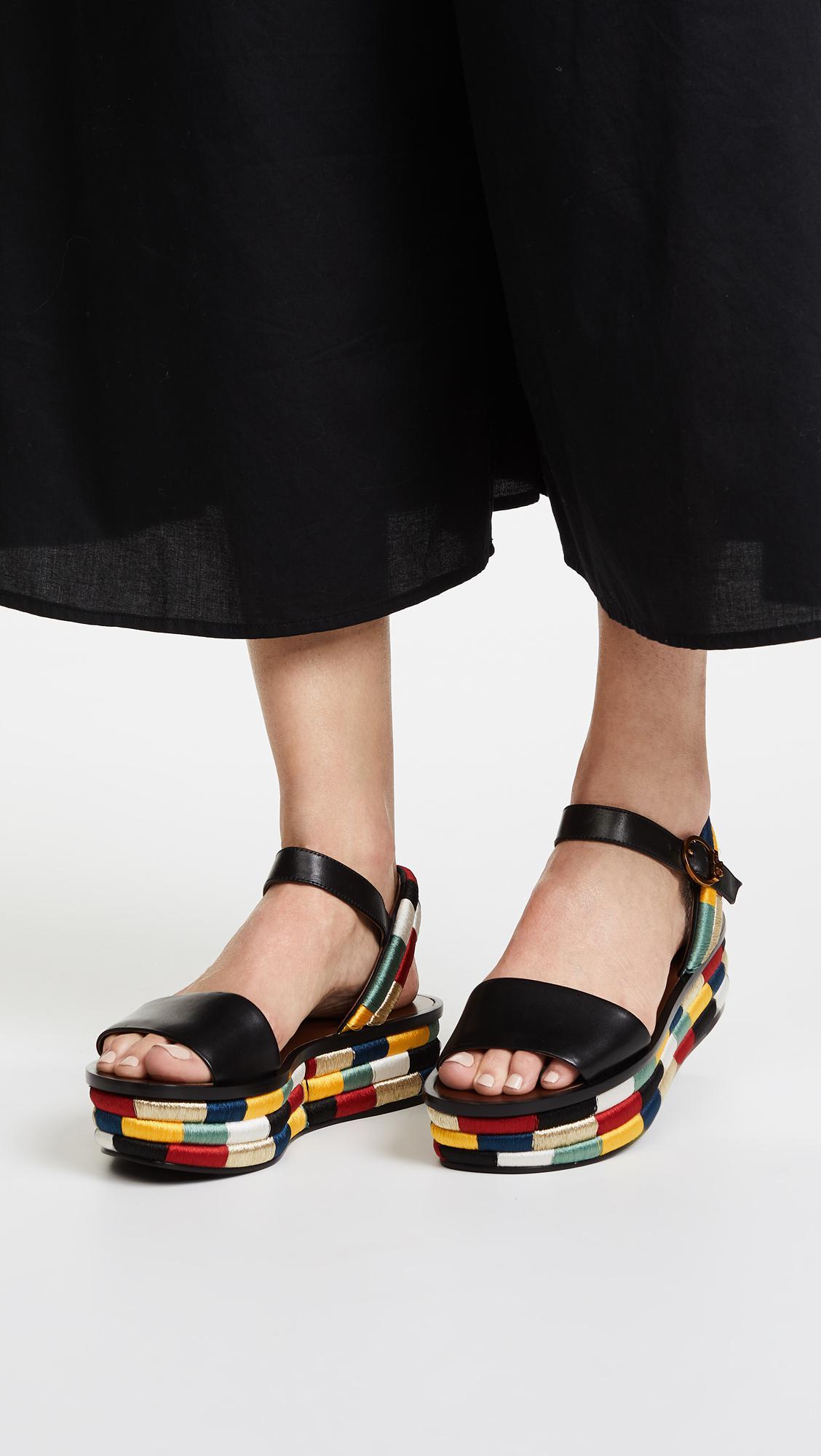 dd1987f31f9e Lyst - Tory Burch Camilla 40mm Platform Sandals in Black
