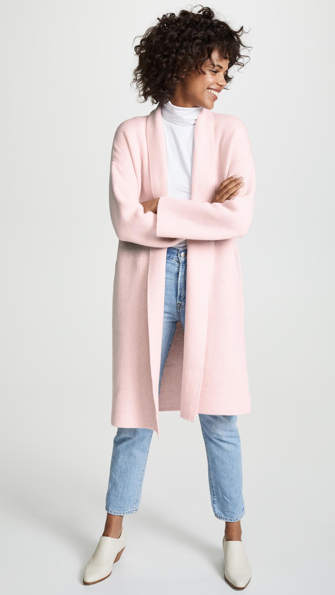 Madewell Rivington Sweater Coat In Pink Lyst