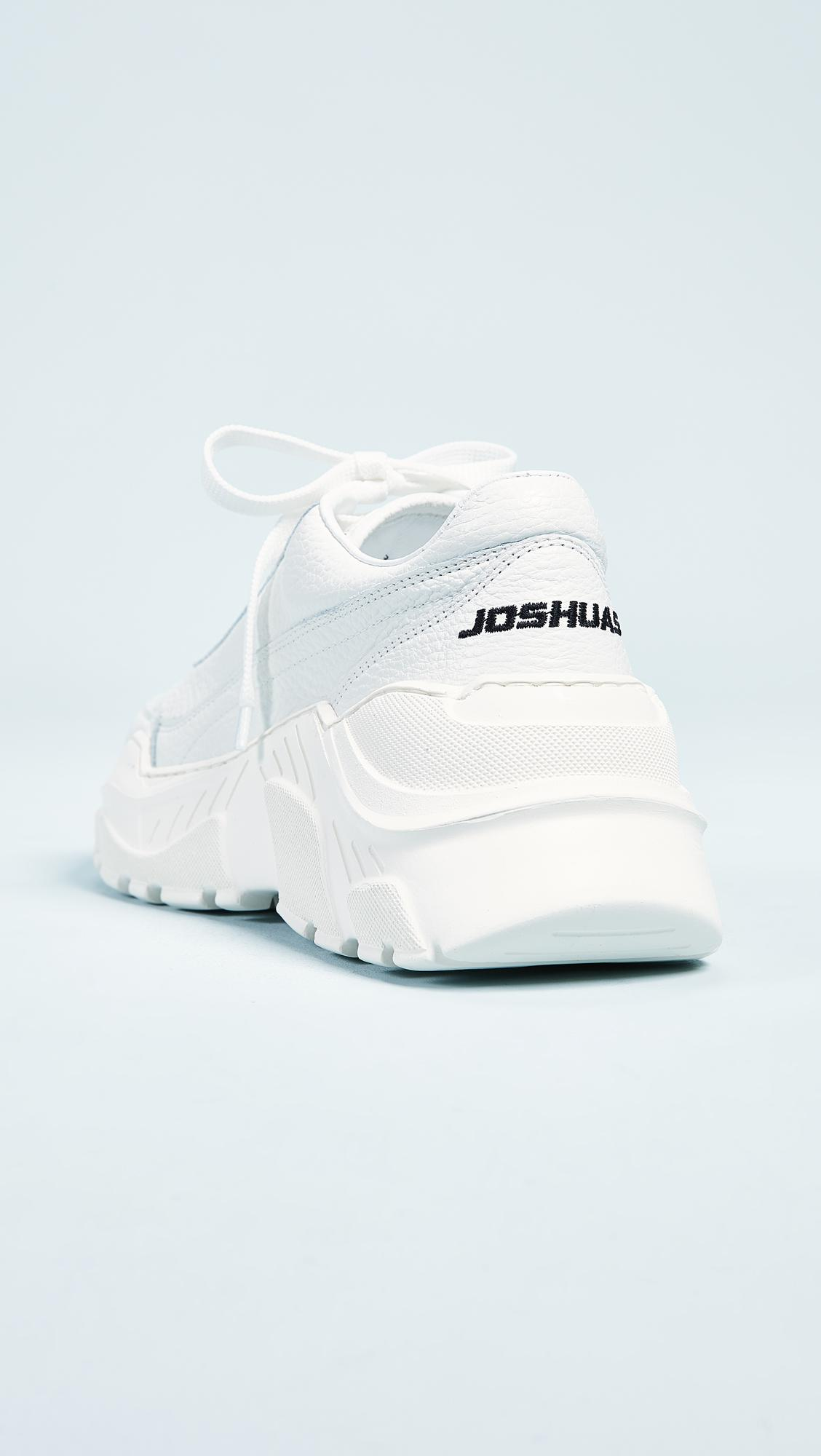 JOSHUA SANDERS Women's Zenith Leather Lace Up Platform Sneakers gVWNEcq8