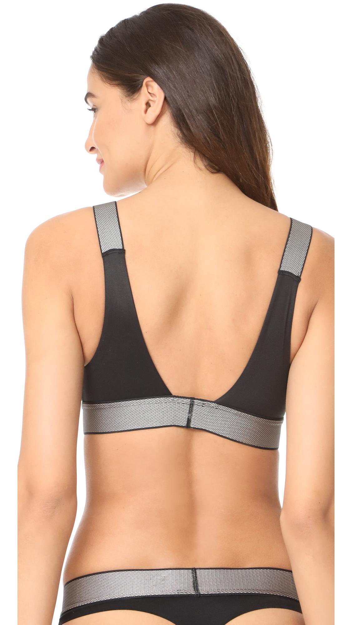 974cd69c0c0 Lyst - Calvin Klein Customized Stretch Unlined Bralette in Black