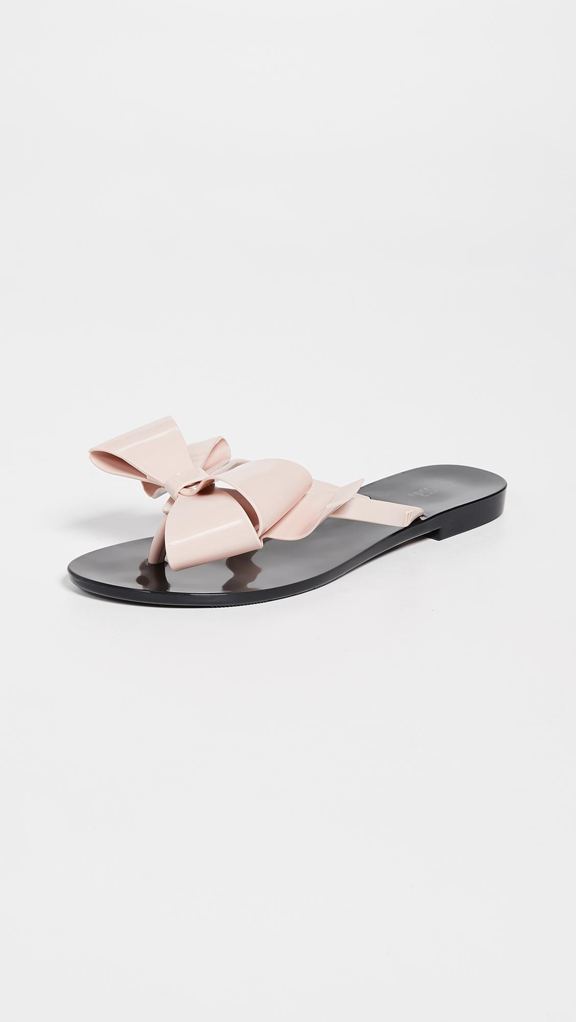 d2b30228e92178 Lyst - Melissa Harmonic Bow Iii Thong Sandals in Black