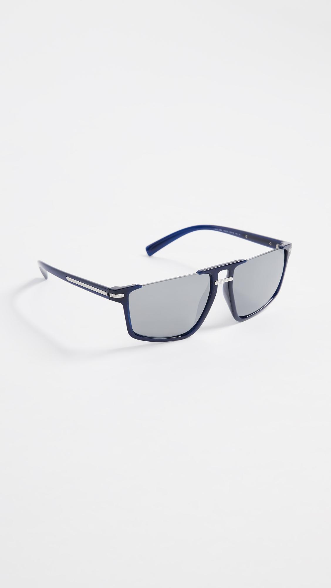 de3a8fa32141 Lyst - Versace Ve4363 Rimless Flat Top Sunglasses in Blue