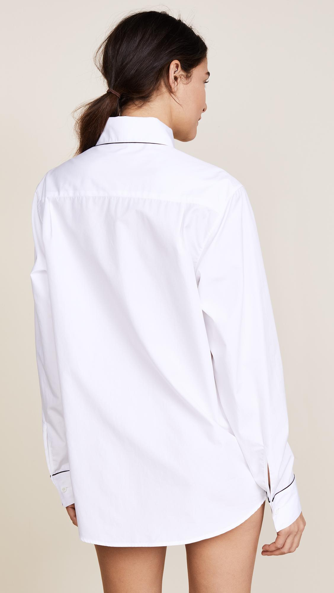 Lyst - Kiki de Montparnasse New Boyfriend Shirt in White 69a505ad0