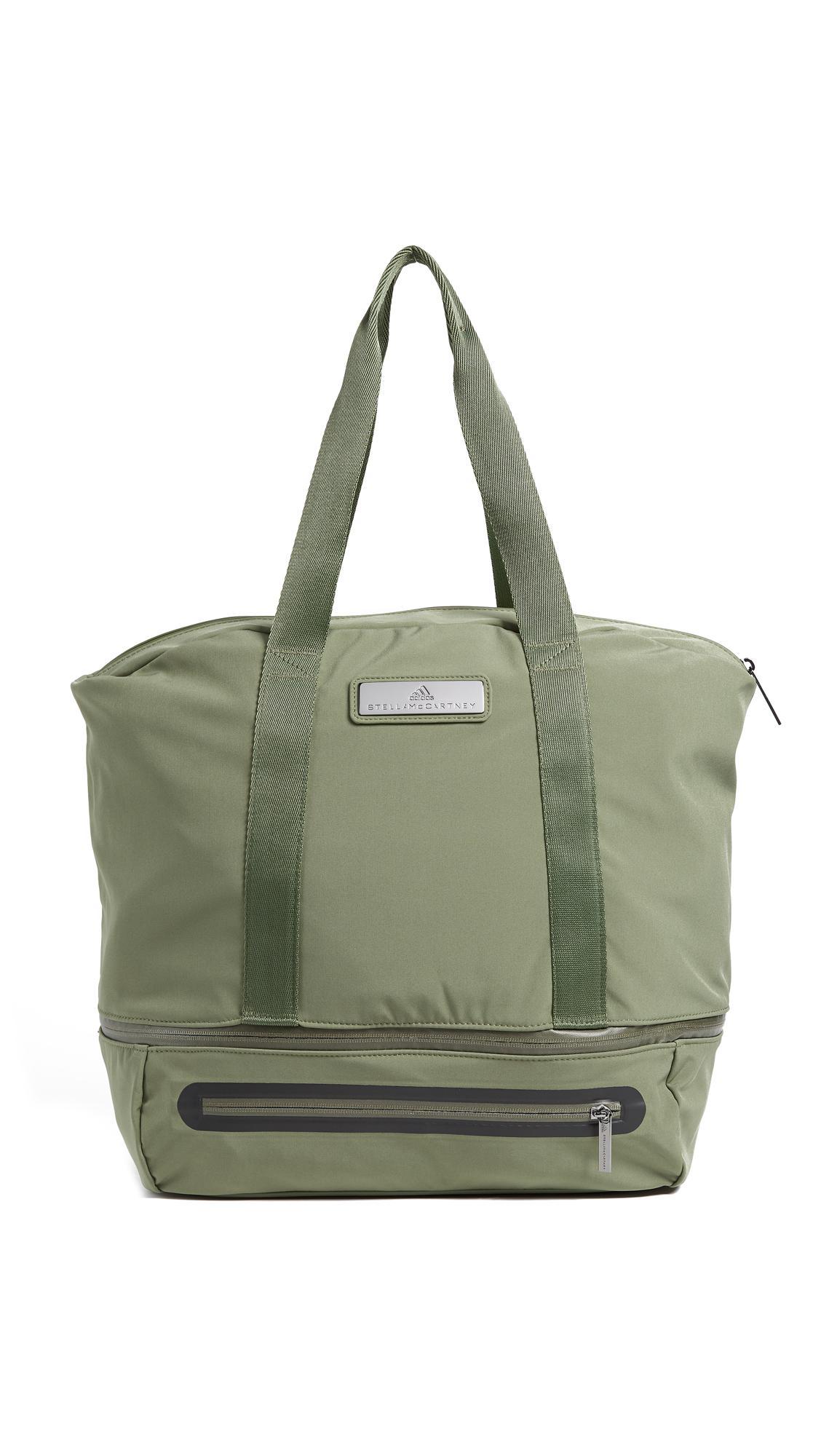 lyst adidas da stella mccartney iconica borsa verde