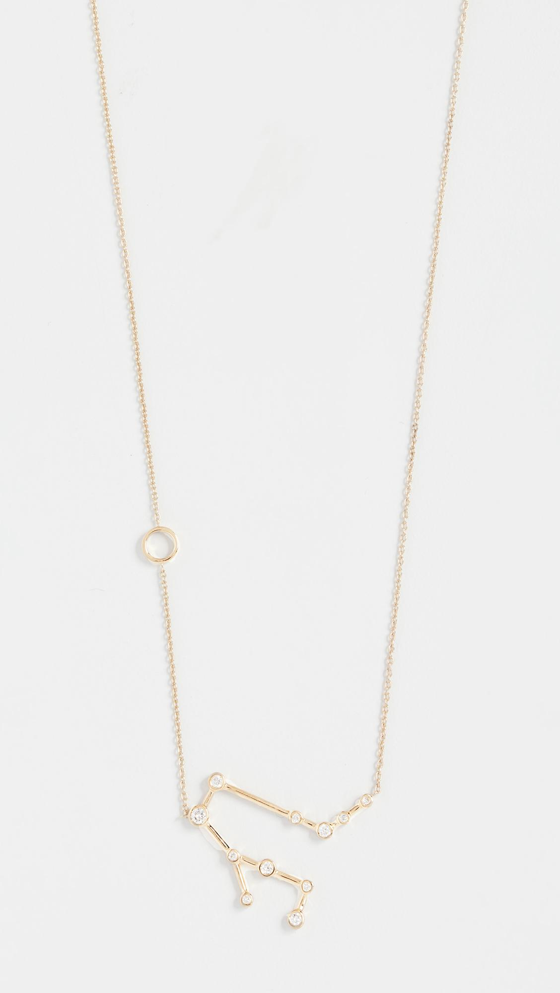Lulu Frost 14k Gold Gemini Necklace with White Diamonds UhkumUjmBn