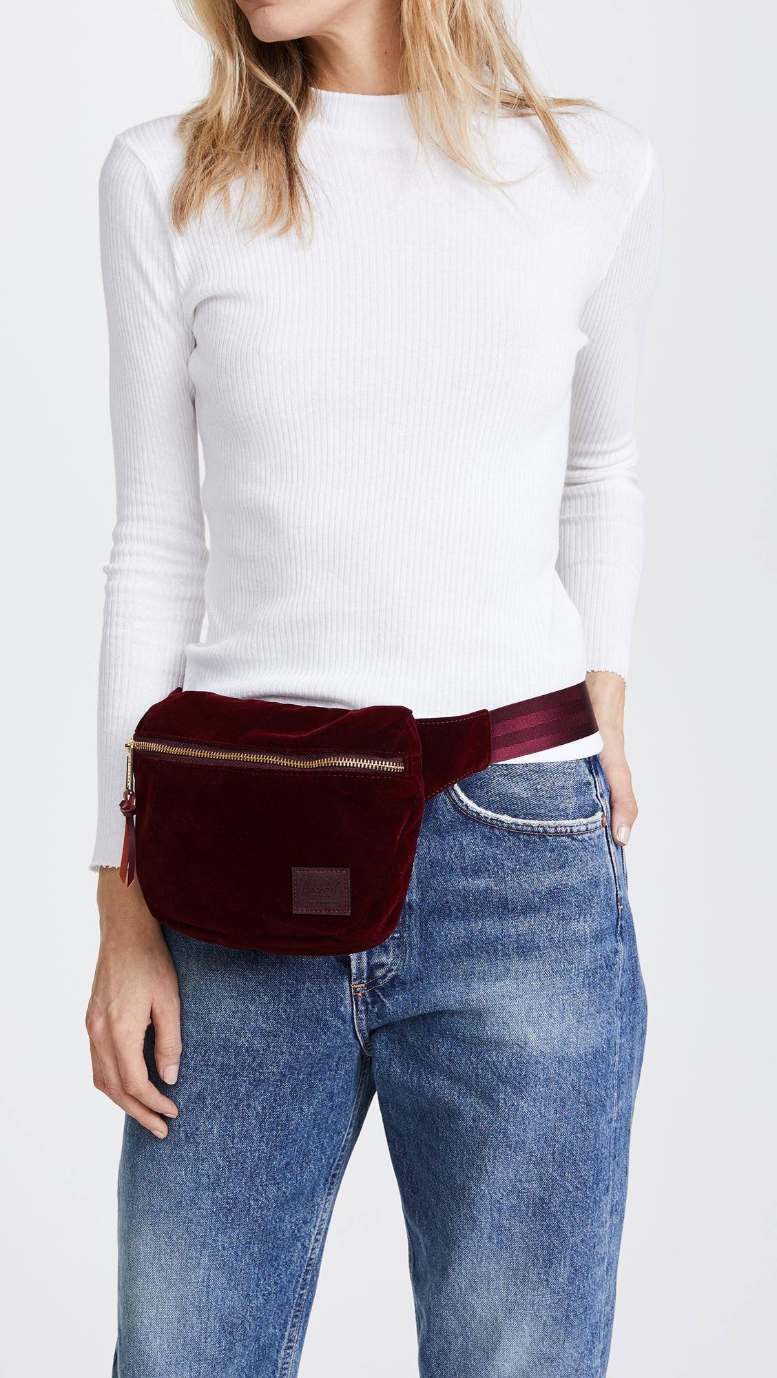 23832a33e29 Lyst - Herschel Supply Co. Velvet Fifteen Fanny Pack